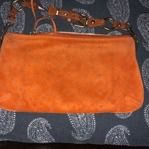 Louis Vuitton Monogram Orange Suede Onatah Bag